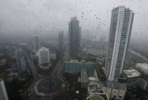 Ilustrasi Jakarta diguyur hujan