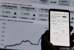 Ilustrasi: Layar monitor menampilkan pergerakan Indeks Harga Saham Gabungan (IHSG) pada perdagangan saham di Jakarta. Foto : Antara.
