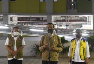 Presiden Joko Widodo ketika meninjau langsung kesiapan Rumah Susun (Rusun) Pasar Rumput, Jakarta.